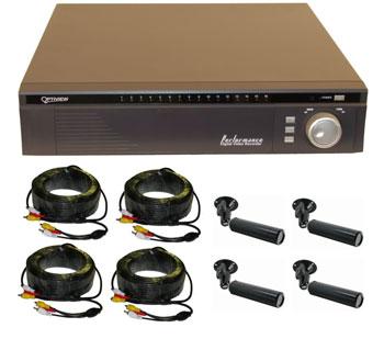 4 Camera H 264 120fps Pentaplex Embedded DVR Color System