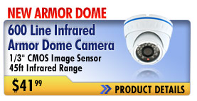 new infrared armor dome camera