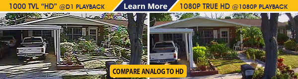 Compare Analog to HD-CVI Surveillance