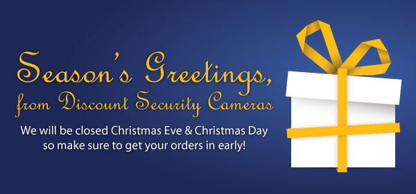 Season's Greetings - We will be closed Christmas Eve & Christmas Day
