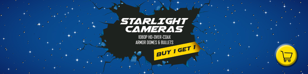 Buy One Get One Free HD Starlight Cameras