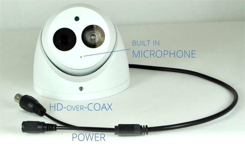 Built in Microphone with Audio and HD over Coax
