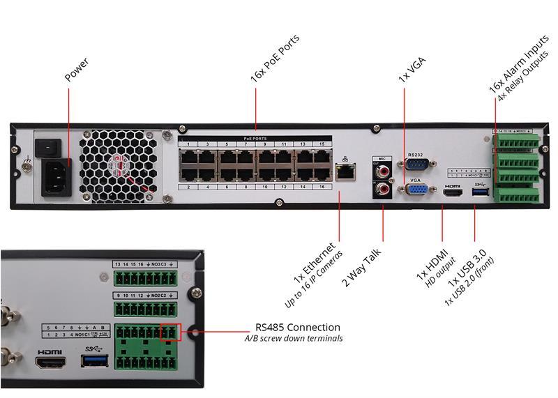 16 Poe Nvr - Embedded Dnvr16p16-4 Camera 4k
