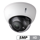 5 Megapixel HD-over-Coax Varifocal Armor Dome Camera