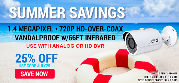 Get 25% off HD-CVI Bullet Camera