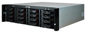 128 Channel Embedded NVR with 128TB Hot Swappable Hard Drive Bays
