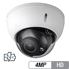 4 Megapixel HD-over-Coax Varifocal Armor Dome Camera